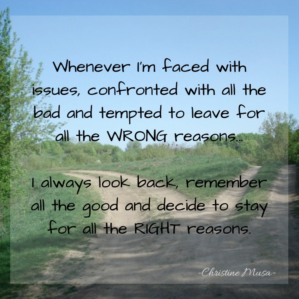 Stay For All The Right Reasons